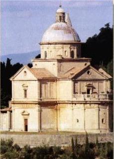Facciata Tempio di San Biagio, Montepulciano risanata