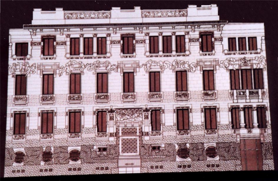 Risanamento facciata 1° edificio Liberty a Milano